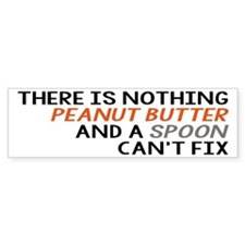 Peanut Butter and Spoon Bumper Sticker
