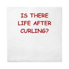curling,curling Queen Duvet