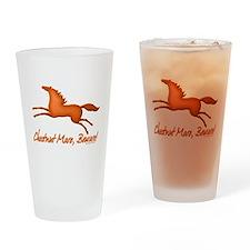 chestnut mare horse Drinking Glass