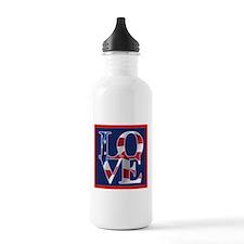 Patriotic Love America Water Bottle