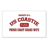 Property of a US Coastie: Coa Sticker (Rectangular