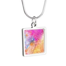 The Lights are bright Silver Square Necklace