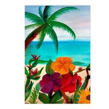 Tropical Floral Beach  Postcards (Package of 8)