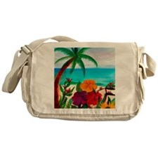 Tropical Floral Beach  Messenger Bag