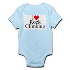 """I Love (Heart) Rock Climbing"" Infant Bodysuit"