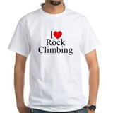 &quot;I Love (Heart) Rock Climbing&quot; Shirt