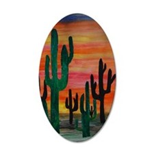 Desert Cactus art Wall Decal