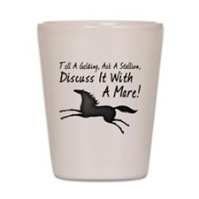 Mare Horses Shot Glass