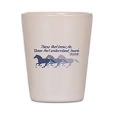 horses teach cup Shot Glass