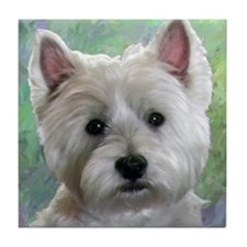 PORTRAIT OF A WESTIE Tile Coaster