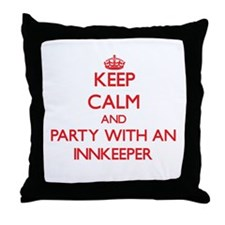 Keep Calm and Party With an Innkeeper Throw Pillow