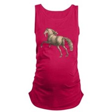 Andalusian Horse Galloping Stal Maternity Tank Top