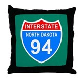 Interstate 94&lt;BR&gt; Throw Pillow