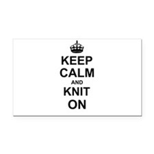 Keep Calm and Knit on Rectangle Car Magnet
