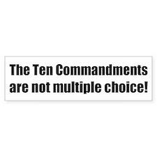 10 Commandments Bumper Bumper Sticker
