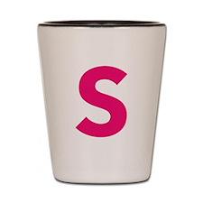 Letter S Pink Shot Glass