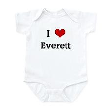 I Love Everett Onesie