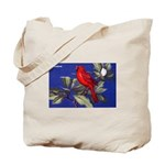 Northern Cardinal Bird Tote Bag