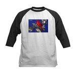 Northern Cardinal Bird Kids Baseball Jersey