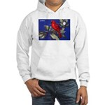 Northern Cardinal Bird (Front) Hooded Sweatshirt