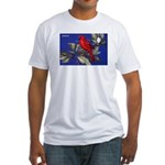 Northern Cardinal Bird (Front) Fitted T-Shirt