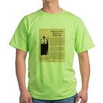Wanted Willie Boy  Green T-Shirt