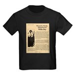 Wanted Willie Boy  Kids Dark T-Shirt