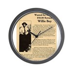 Wanted Willie Boy  Wall Clock