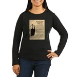 Wanted Willie Boy  Women's Long Sleeve Dark T-Shir