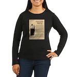 Wanted Willie Boy  Women's Long Sleeve Dark T-Shir
