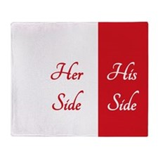 #1 RED HER SIDE\HIS SIDE Throw Blanket