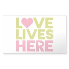 Love Lives Here Decal