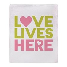 Love Lives Here Throw Blanket