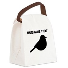 Custom Meadowlark Bird Silhouette Canvas Lunch Bag