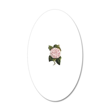Countess of Derby Camelia Fl 20x12 Oval Wall Decal