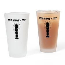 Custom Shrimp Silhouette Drinking Glass