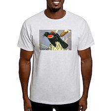 Red-Winged Blackbird Bird (Front) T-Shirt