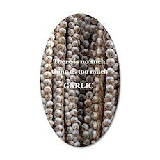 Lots of garlic 35x21 Oval Wall Decal