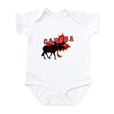 Canada Maple Leaf Moose  Infant Bodysuit