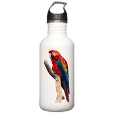 Red Ara Bird Water Bottle