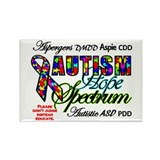 autism aspergers Rectangle Magnet