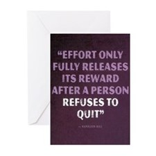 Effort - Motivational Quote Greeting Cards