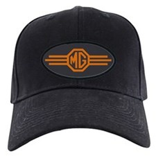 MG Bar Baseball Hat - Blaze Orange On Charcoal Black