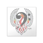 Bass Clef Phoenix Square Sticker 3