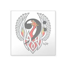 "Bass Clef Phoenix Square Sticker 3"" X 3"""