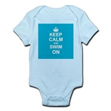 Keep Calm and Swim on Body Suit