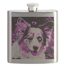 Purple Corgi Flask