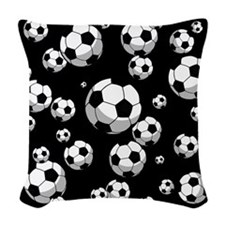 Soccer Woven Throw Pillow