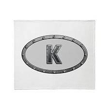 K Metal Oval Throw Blanket