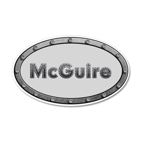 McGuire Metal Oval 20x12 Oval Wall Decal